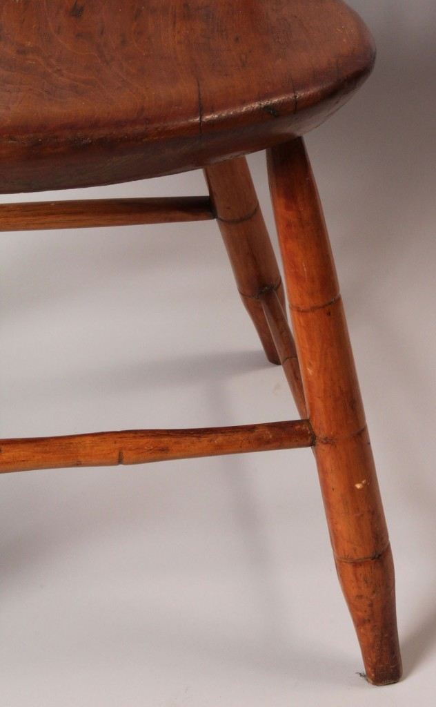 Lot 34: Maysville, KY Windsor Chair, marked G. Gibson