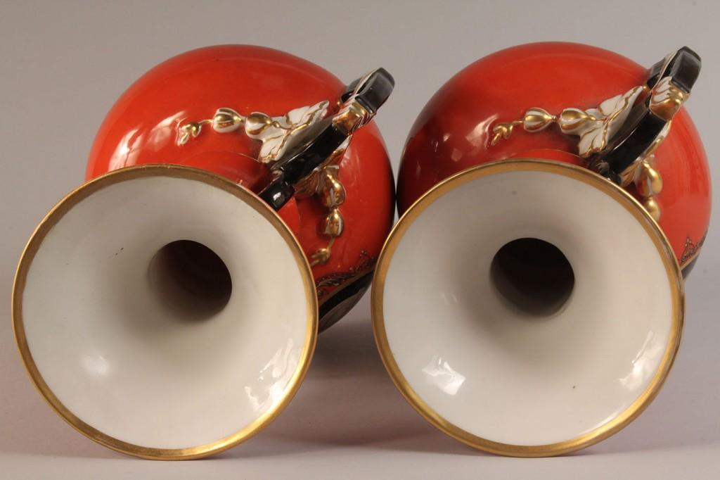 Lot 351: Pair of Paris Porcelain Classical Vases