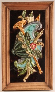 Lot 360: Framed Majolica Plaque