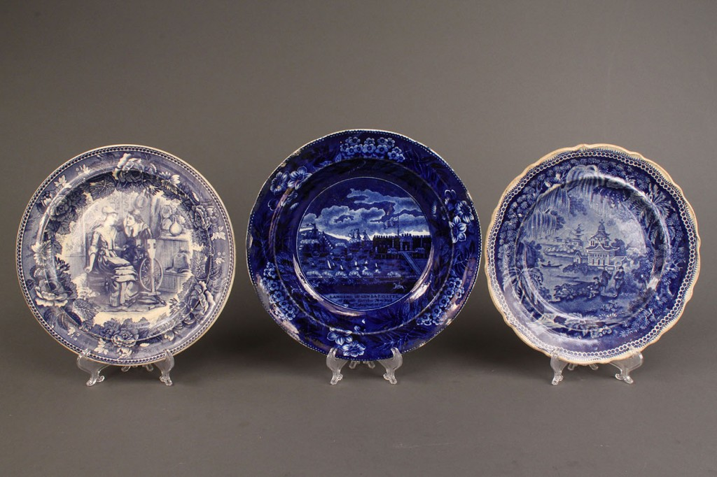 Lot 364: Historical Staffordshire, 7 pcs inc. rare plate