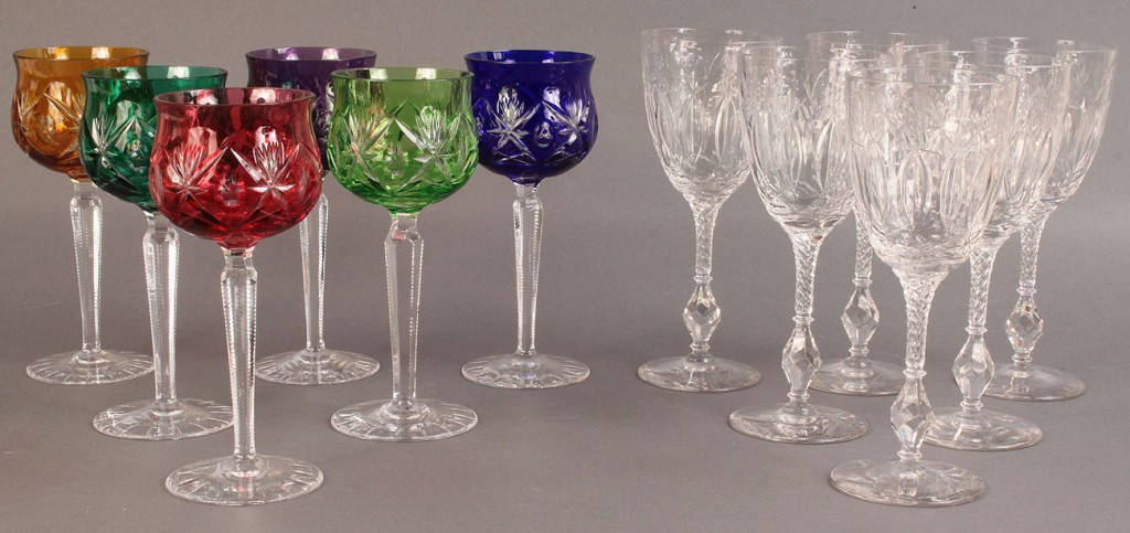 Lot 368: Assembled Lot of 12 Crystal Glasses