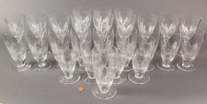 Lot 369: Stuart crystal Coronation pattern stemware, 26 pieces