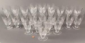 Lot 369: Stuart crystal Coronation pattern stemware, 26 pieces