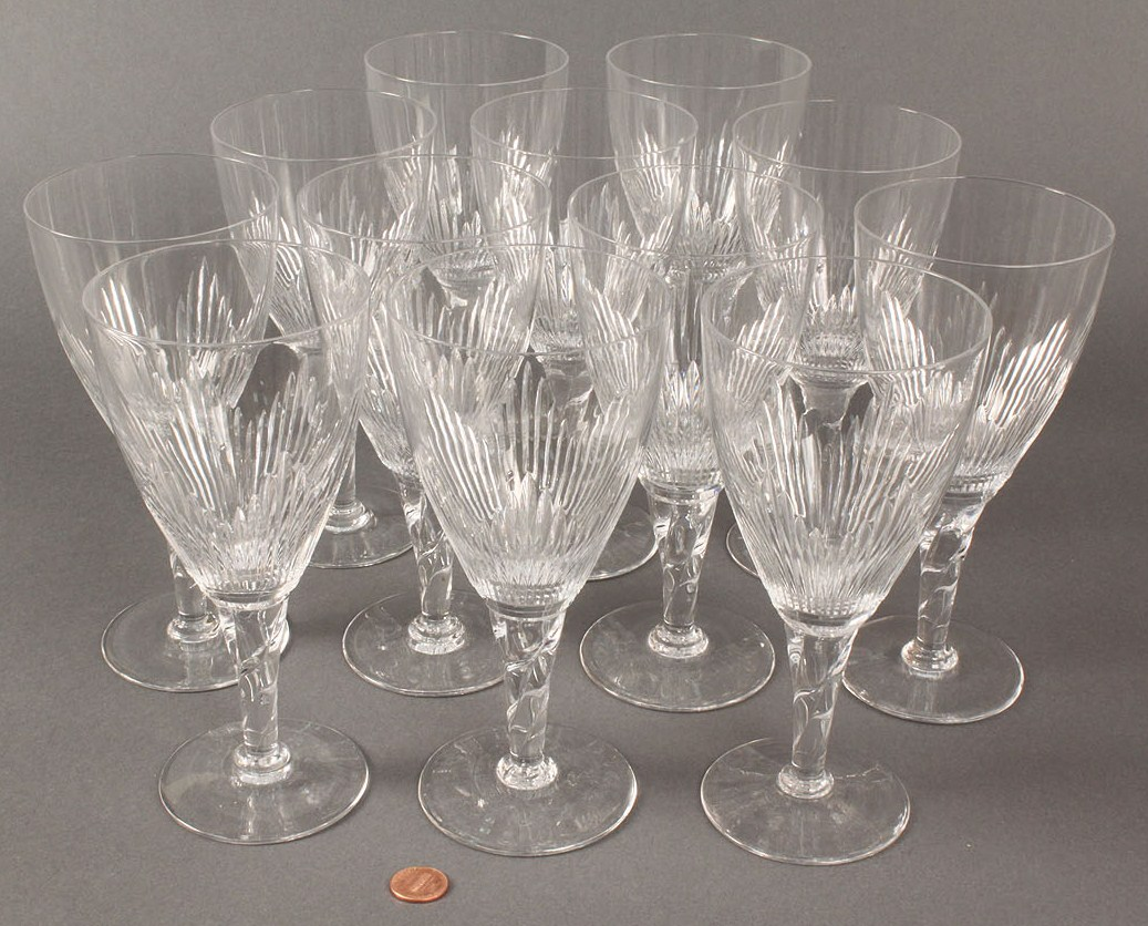 lot 369 stuart crystal coronation pattern stemware 26 pieces