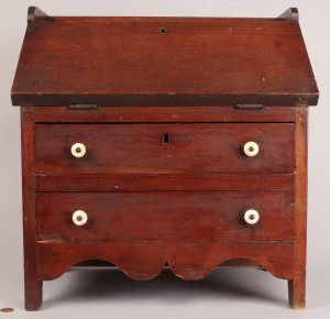 Lot 36: Southern Miniature Walnut Desk