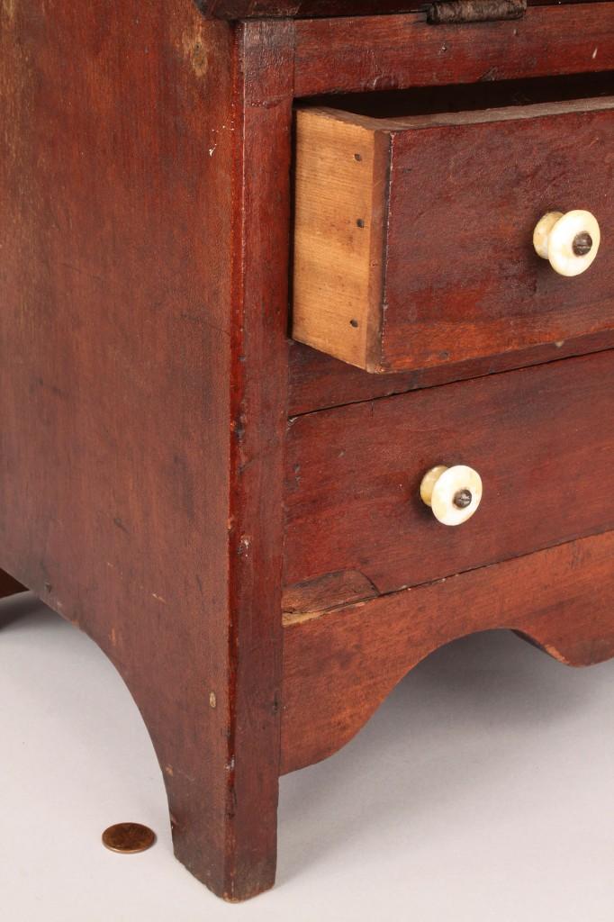 Lot 36: Southern Miniature Walnut Desk
