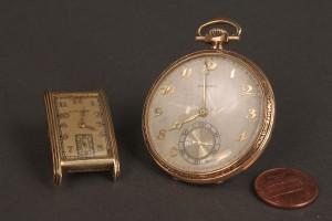 Lot 373:  14K Longines Pocket Watch & Hamilton watch