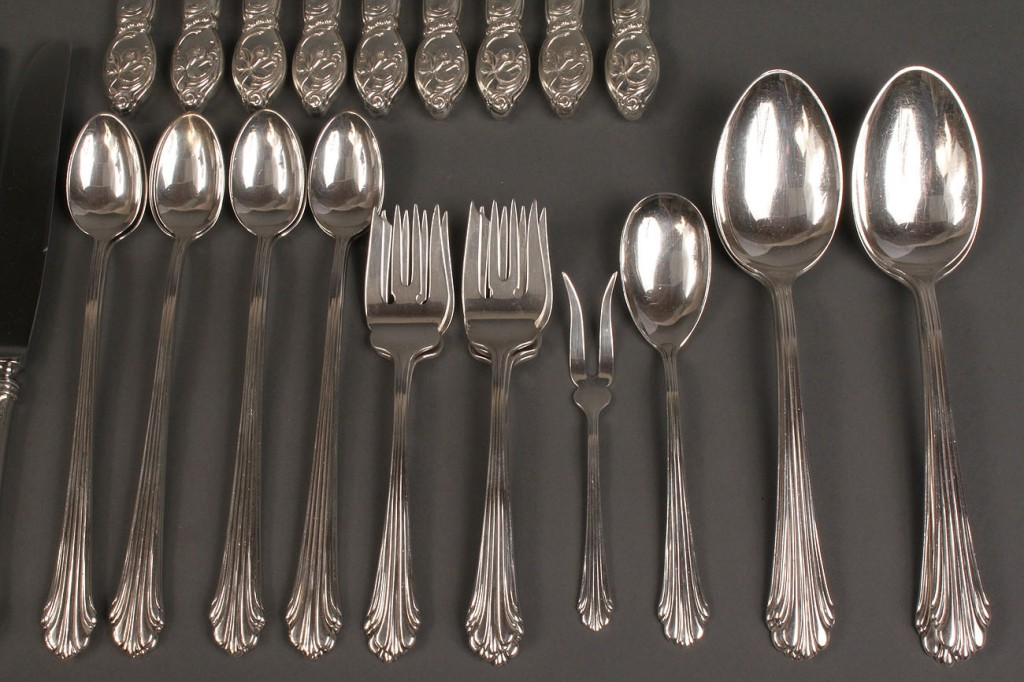 Lot 388: Stieff & Westmorland Sterling, 36 pcs
