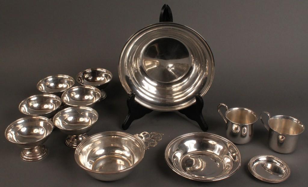Lot 398: Misc. Sterling Tableware, incl. S. Kirk, (14 pcs.)
