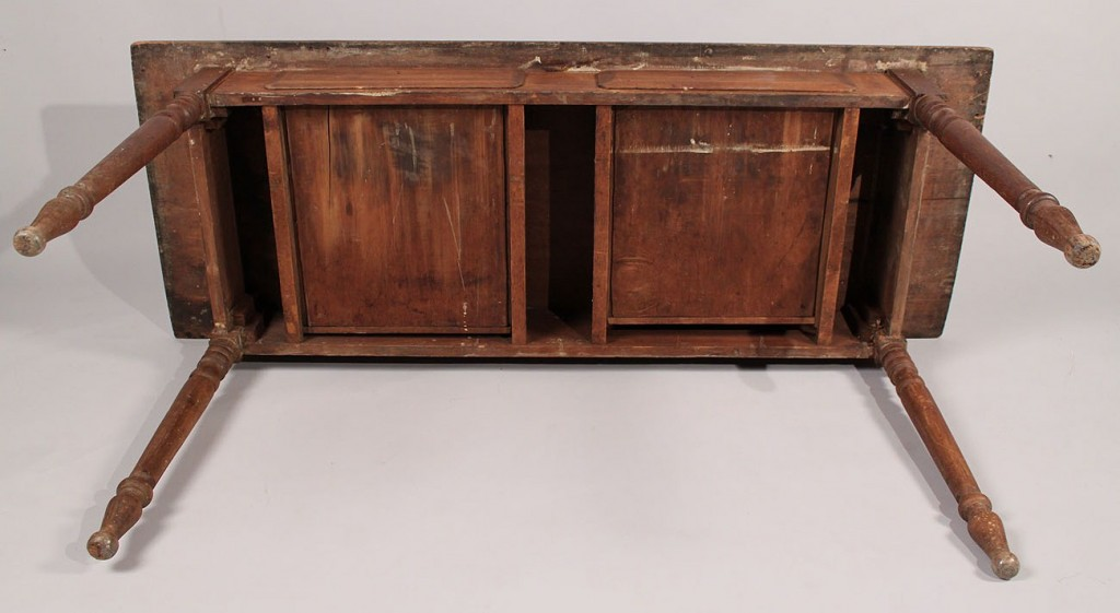 Lot 39: Single Board Farm Table w/ 2 drawers