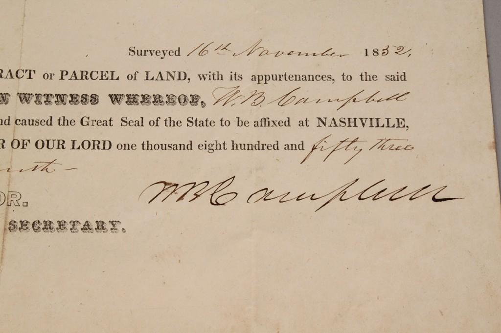 Lot 3: Lot of 2 TN documents, Gov. Harris & Campbell