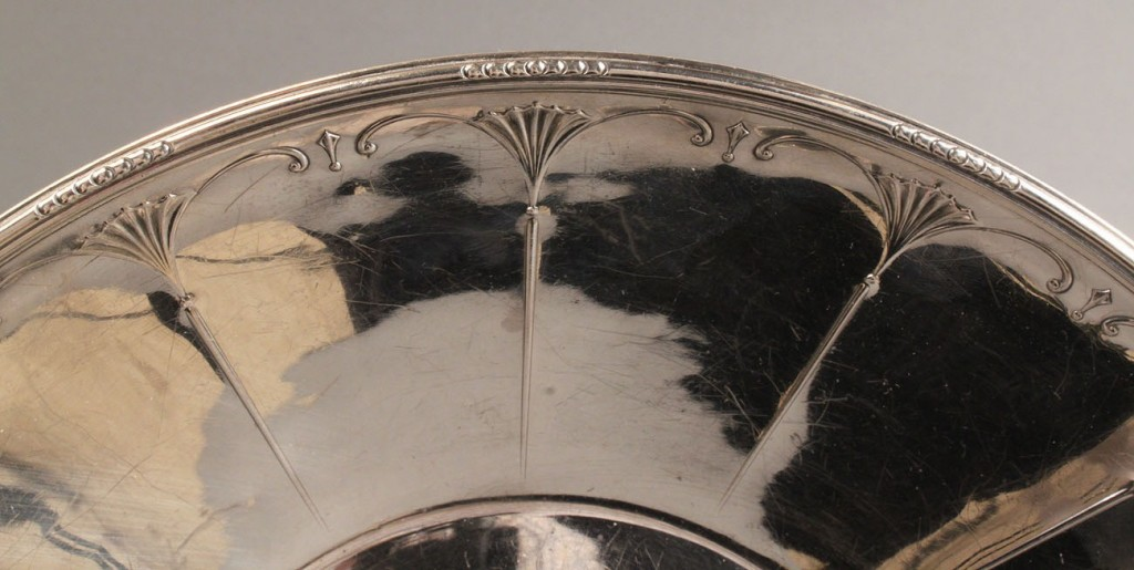 Lot 400: Large Sterling Silver Bowl, Art Deco style