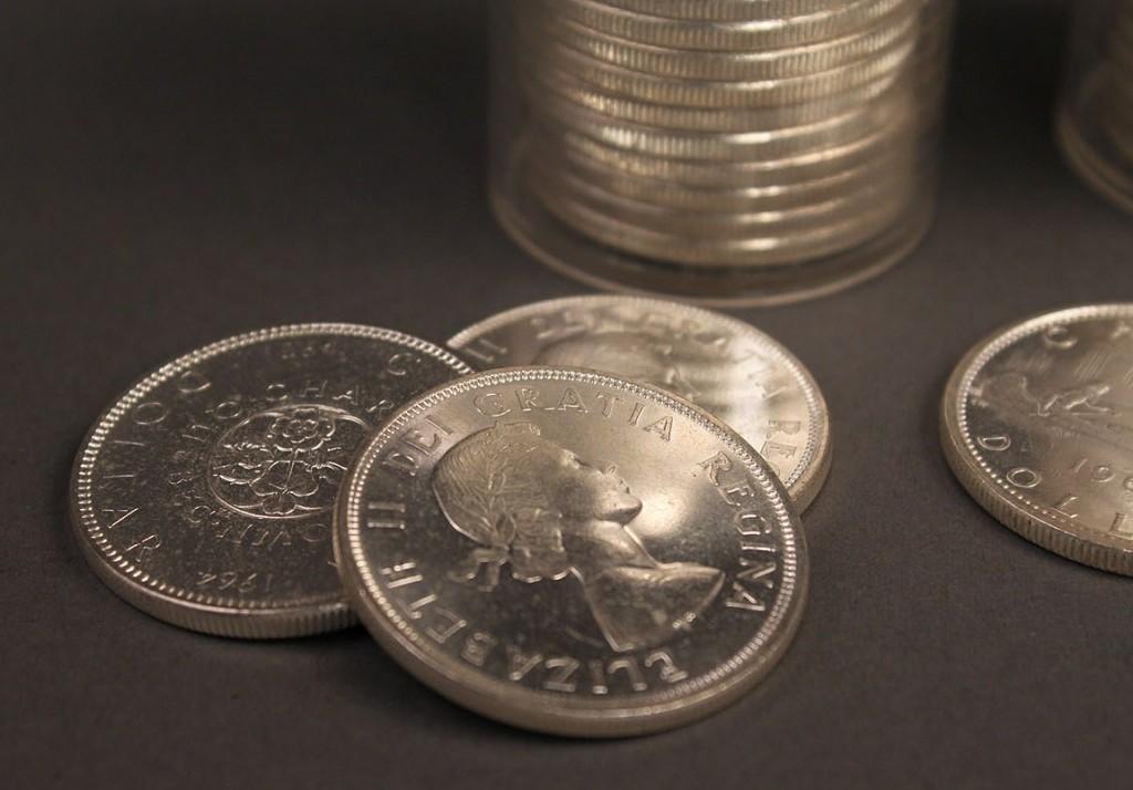 Lot 412: Lot of 66 Canadian Silver Dollars Elizabeth II