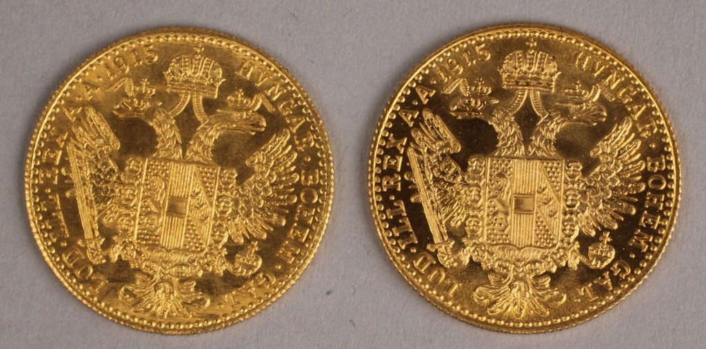 Lot 417: Lot of 2 Austrian One  Ducat Coins