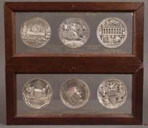 Lot 418: Lot of 6 Commemorative Restrike Silver Medals, Tovio Johnson