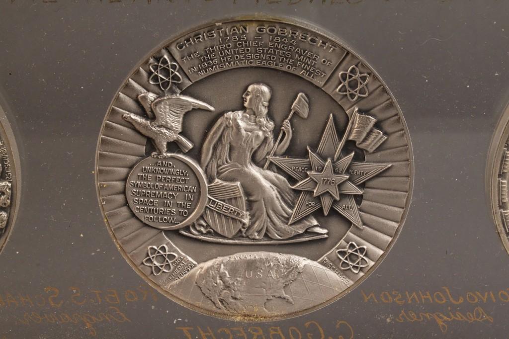 Lot 418: Lot of 6 Commemorative Restrike Silver Medals, Tovio Johnson