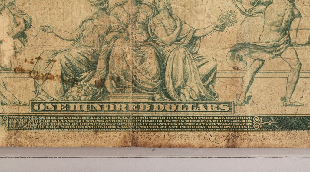 Lot 419: Fr. 1079b 1914 Red Seal $100 St. Louis Federal Reserve Note