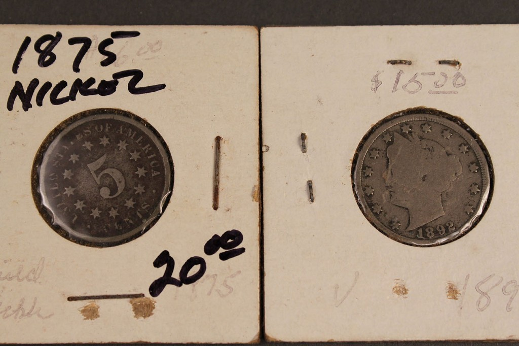 Lot 423: Lot of 40 US Nickels: 39 Liberty V & 1 Shield