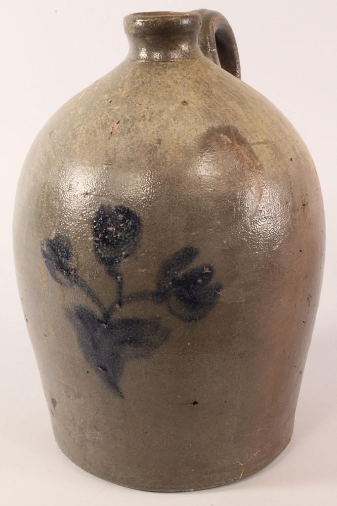 Lot 42: SW VA / E TN  Stoneware Cobalt-decorated Jug