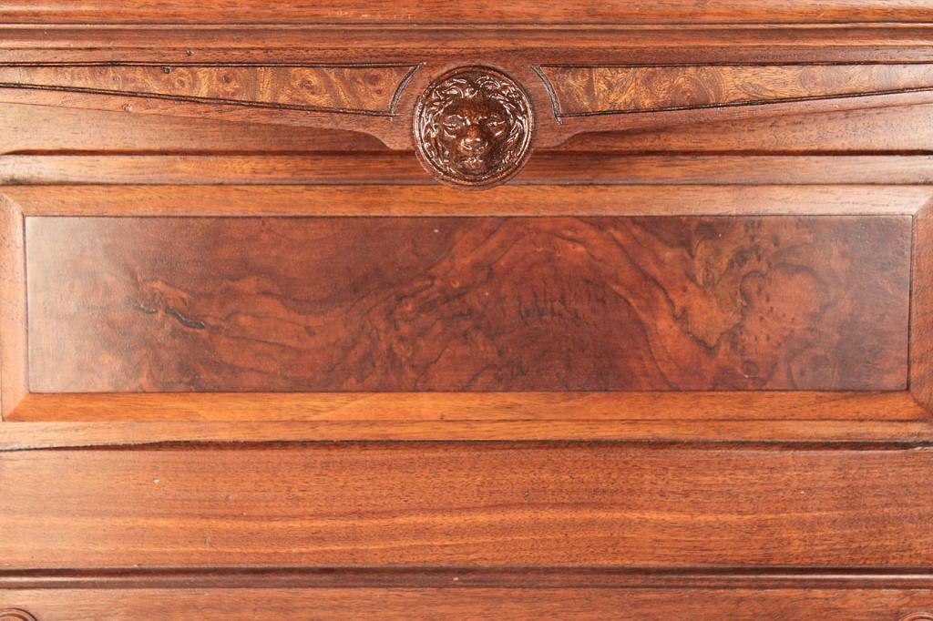 Lot 441: Aesthetic Movement Carved Walnut Wall Shelf