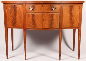 Lot 442: Biggs Inlaid Mahogany Sideboard