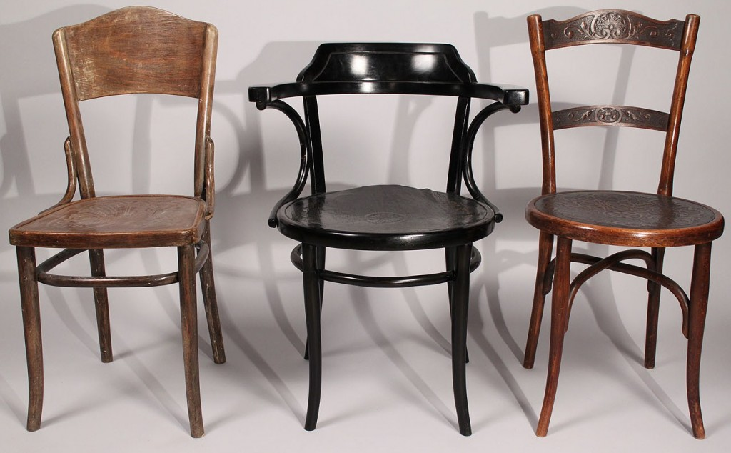 Lot 443: Assembled Lot of 3 Thonet chairs