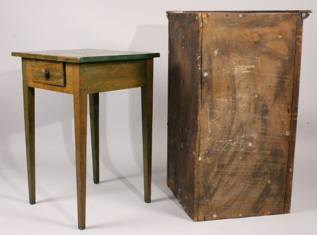 Lot 448: Hanging Corner Cupboard & Table