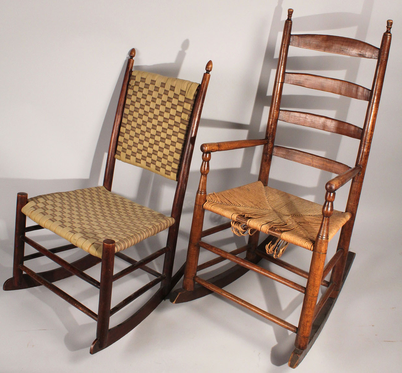 Lot 449: 2 Rocking chairs, Shaker and Tennessee - 449: 2 Rocking Chairs.  Antique ... - Antique Shaker Chair Antique Furniture