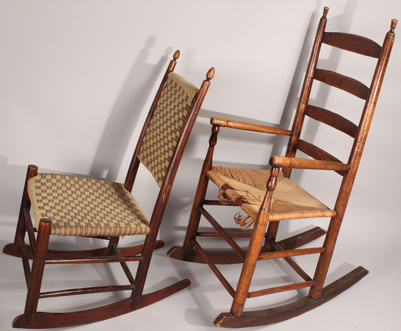 Lot 449: 2 Rocking Chairs, Shaker And Tennessee - Antique Shaker Rocking  Chair Antique - Antique Shaker Rocking Chair Antique Furniture