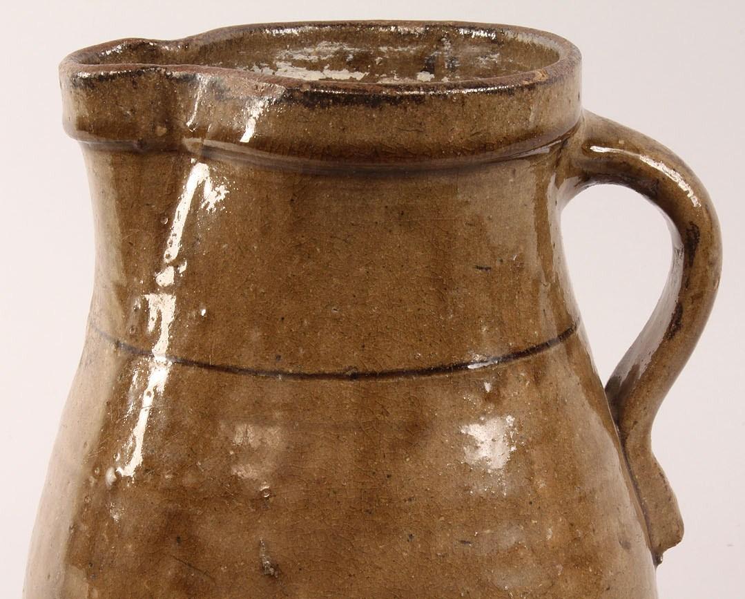 Auctions In Alabama >> Lot 44: Alabama Alkaline-glazed Pottery Pitcher