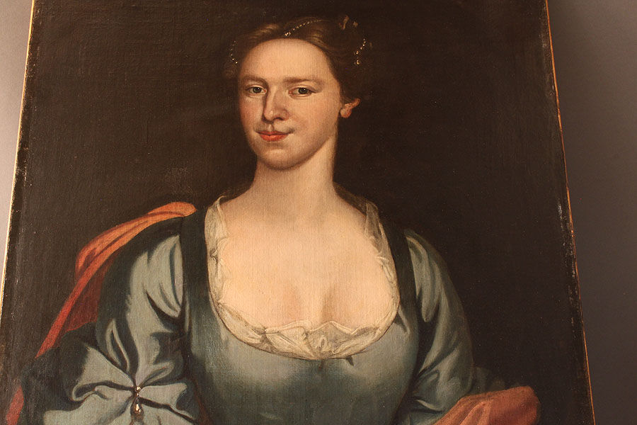 Lot 451: 18th Century Style Portrait of Young Woman