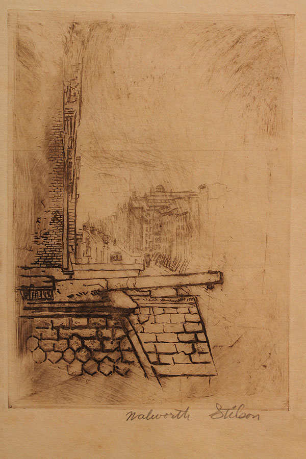 Lot 453: Large Group of New York City area etchings, Walworth Stilson