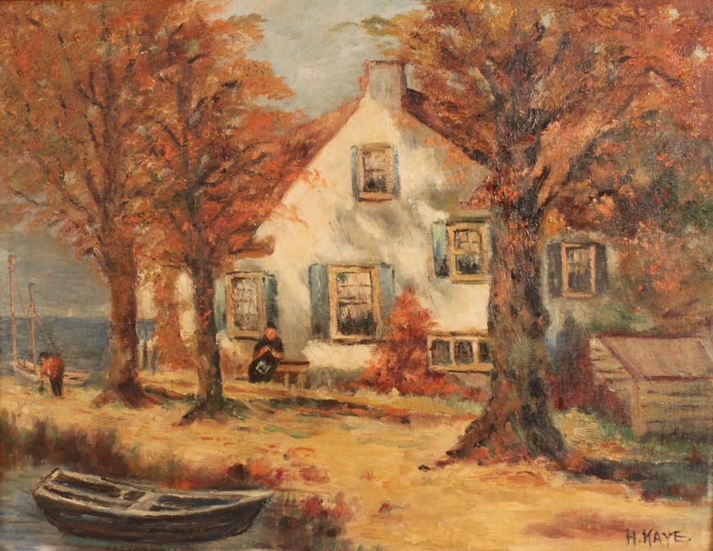 Lot 458: Autumn Coastal scene, Henriette Kaye