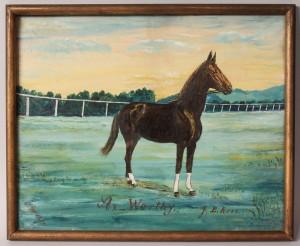 Lot 464: Horse portrait, Axworthy, by E. Weber