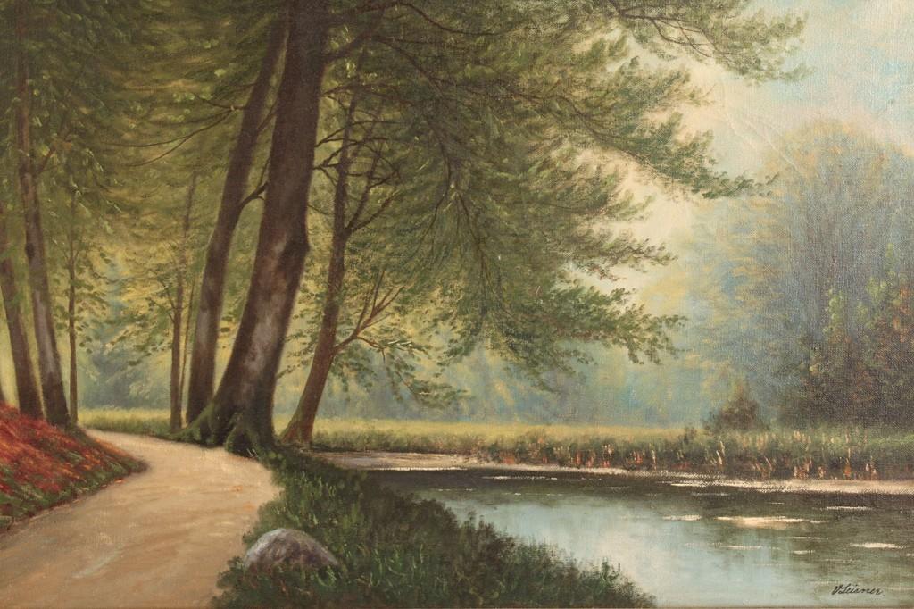Lot 465: Vilhelm Leisner, oil on canvas Landscape