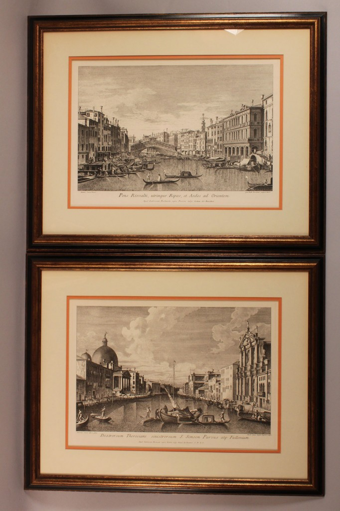 Lot 468A: Lot of 2 Italian etchings after Canaletto