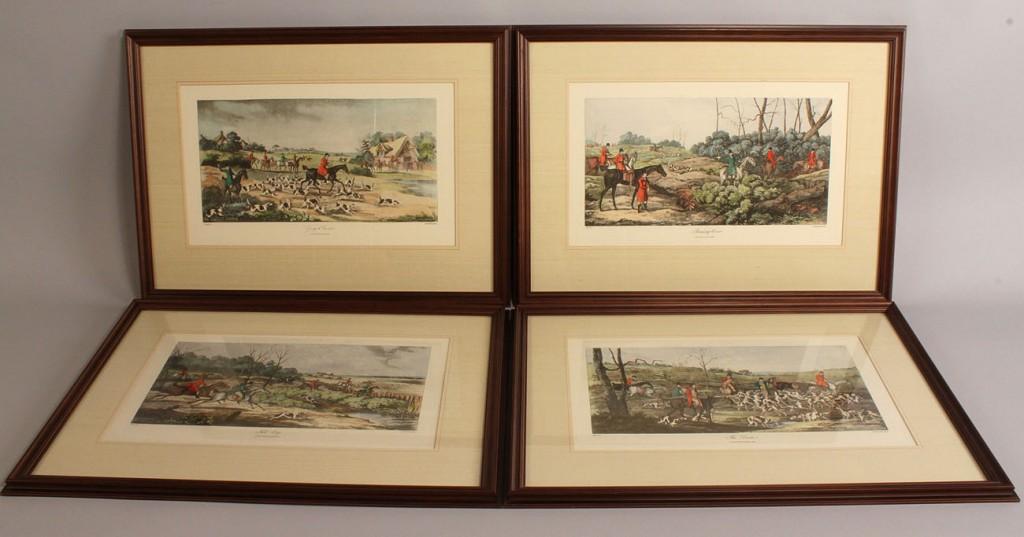 Lot 469: Set of 4 Fox Hunt Prints