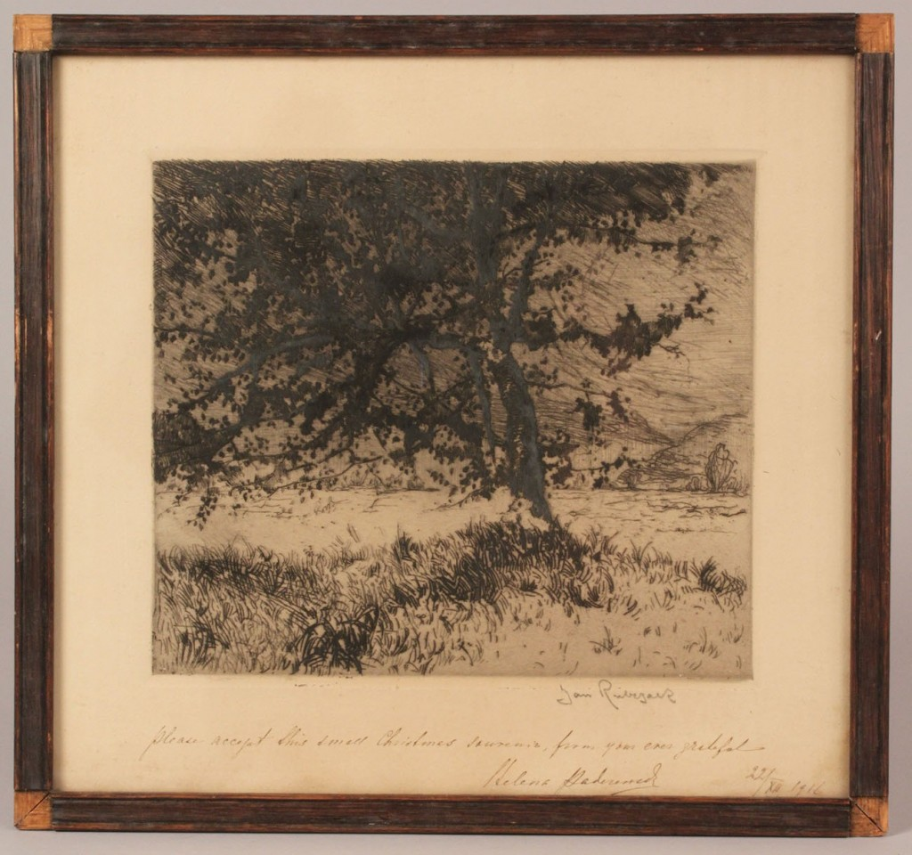 Lot 470: Wallace Nutting photos and etchings (5 items)