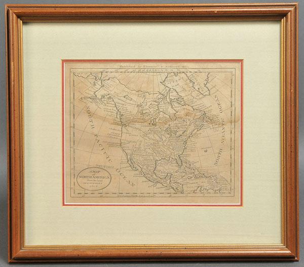 Lot 472: 19th c. prints of American sites + map (4 pcs)