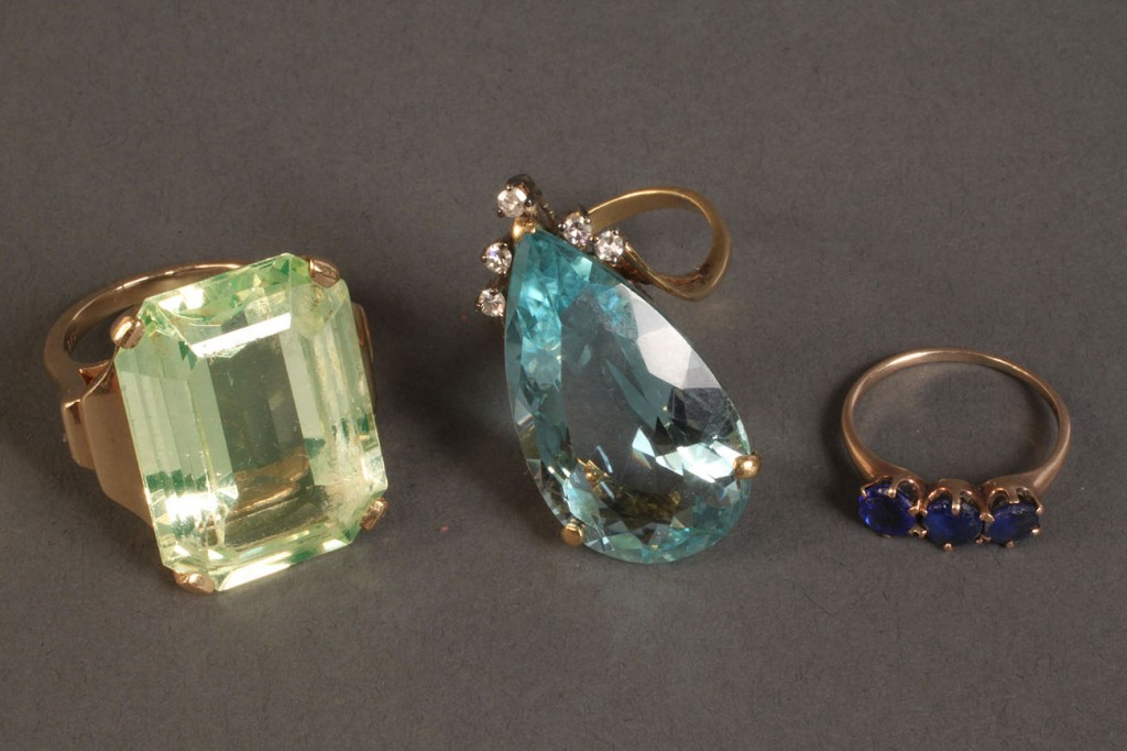 Lot 478: Lot of 2 14K Ladies Rings , plus one other