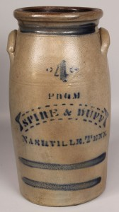 Lot 47: Nashville stoneware advertising jar