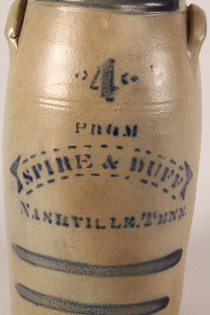 Lot 47: Nashville stoneware advertising jar