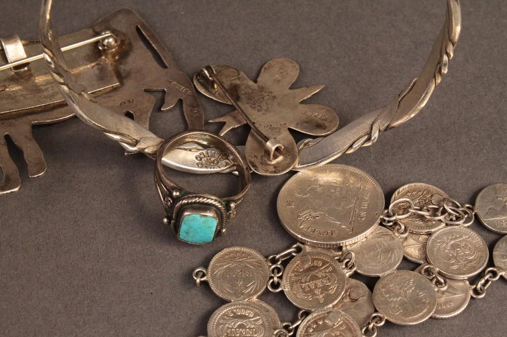 Lot 482: Lot of silver jewelry, 6 pcs