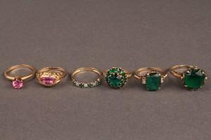 Lot 484: Lot of 6 Ladies 10K & 14K Gold Rings
