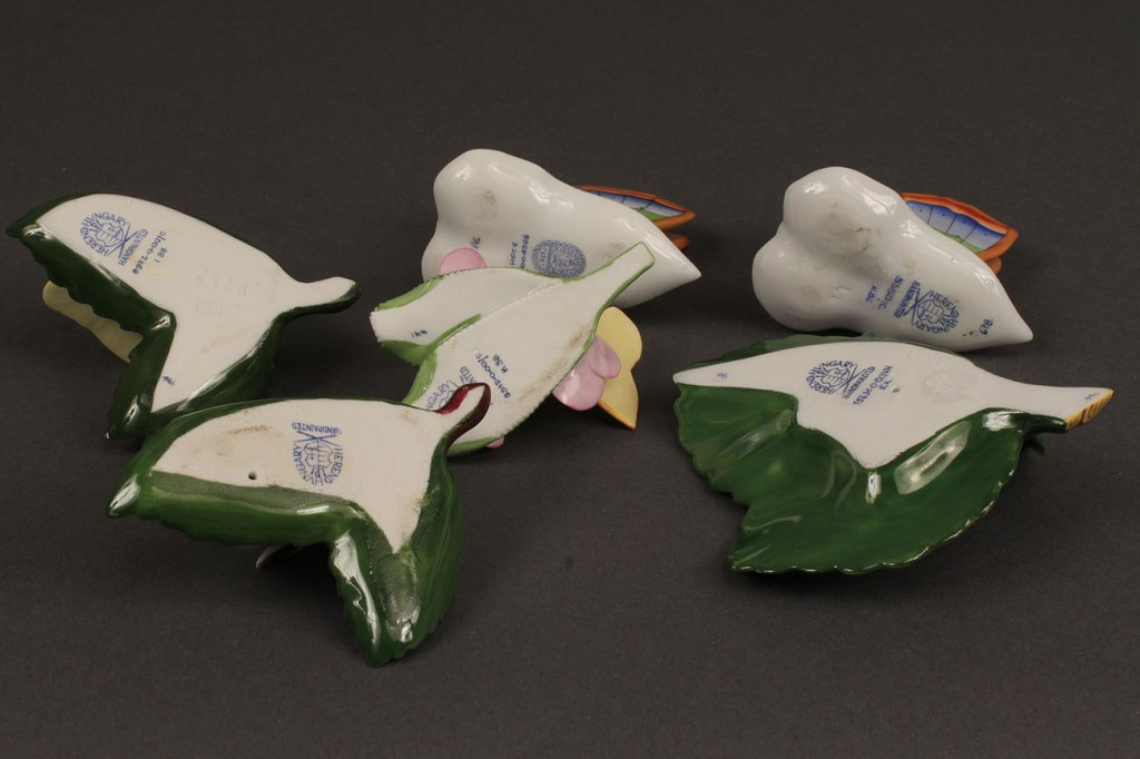 Lot 495: Herend porcelain card holder grouping, 6 pcs