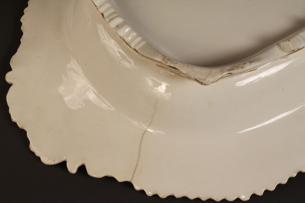 Lot 501: 19th c. Covered Tureen & 3 butter pats