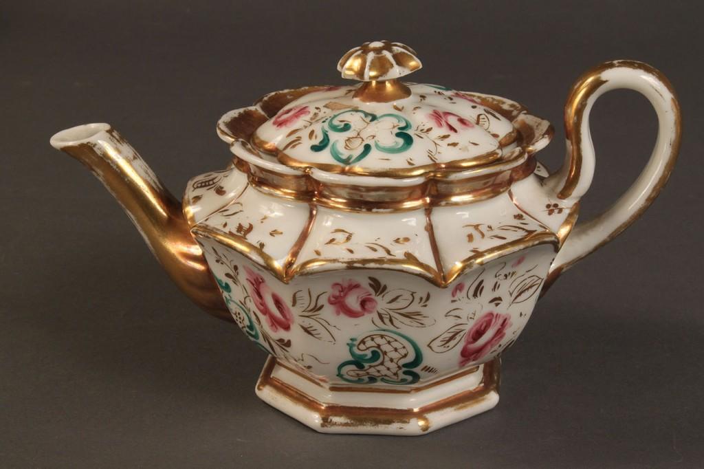 Lot 504: Old Paris porcelain tea service, late 19th c.