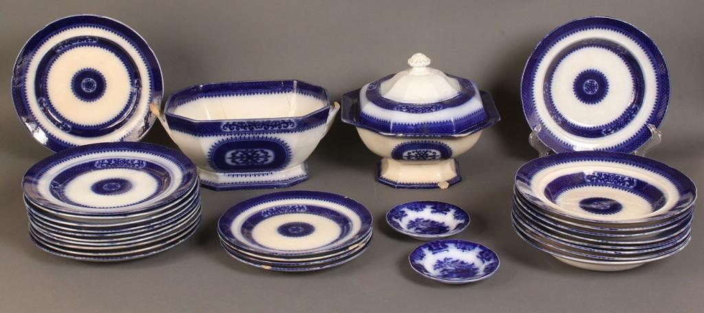 Lot 505: Lot of Flow Blue Pekin Stoneware & 2 Amoy