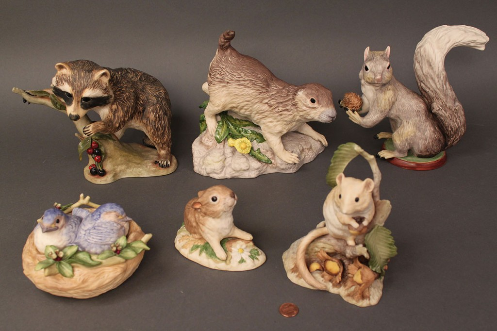 Lot 508:  Lot of 6 Cybis Animal figures, forest-themed