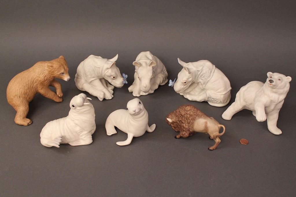 Lot 512: Lot of 8 Cybis Animal figures, wild-themed
